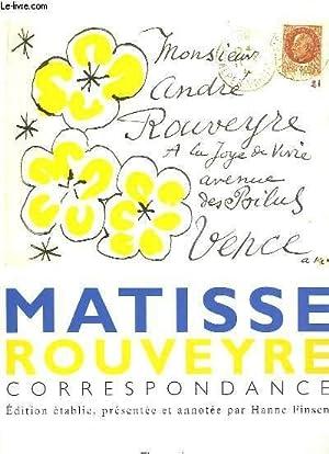 Matisse Rouveyre, correspondance: FINSEN Hanne