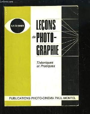 Leçons de Photographie. Théoriques et Pratiques.: CUISINIER A.h.