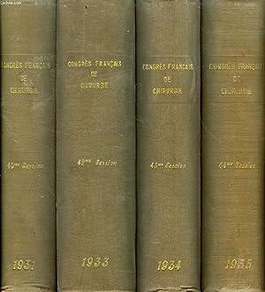 CONGRES FRANCAIS DE CHIRURGIE, 1931-1960, 15 VOLUMES (INCOMPLET): COLLECTIF