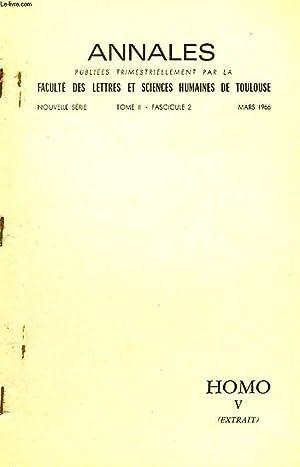 ANNALES DE LA FACULTE DES LETTRES ET SCIENCES HUMAINES DE TOULOUSE, TOME II, FASC. 2, MARS 1966, ...