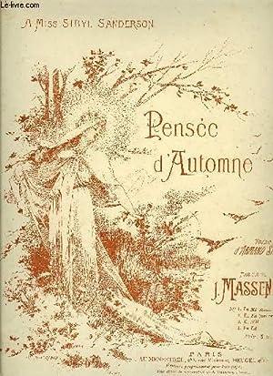 PENSEE D'AUTOMNE: MASSENET J. / SILVESTRE Armand