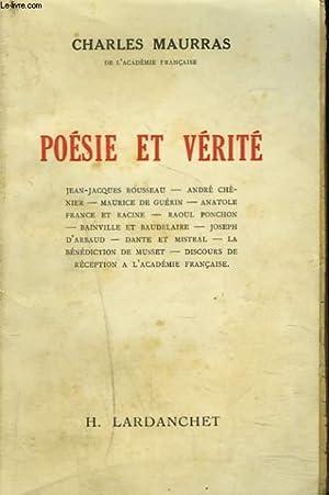POESIE ET VERITE.: CHARLES MAURRAS