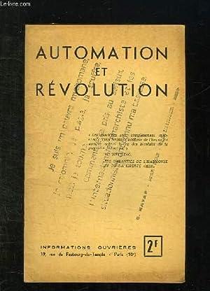 AUTOMATION ET REVOLUTION.: LAMBERT PIERRE.