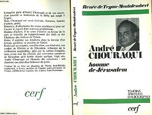 ANDRE CHOURAQUI HOMME DE JERUSALEM: TRYON-MONTALEMBERT RENEE DE