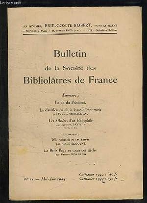 BULLETIN DE LA SOCIETE BIBLIOLATRES DE FRANCE: BAUDELOT D.