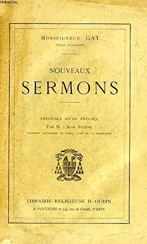 NOUVEAUX SERMONS: GAY Mgr Charles