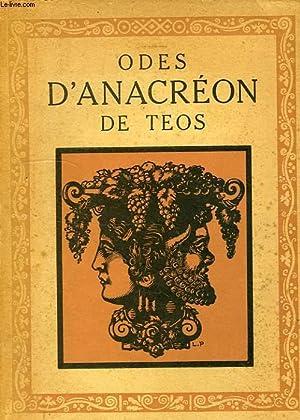 ODES D'ANACREON DE TEOS, SUIVIES DES IMITATIONS D'ANACREON: ANACREON DE TEOS