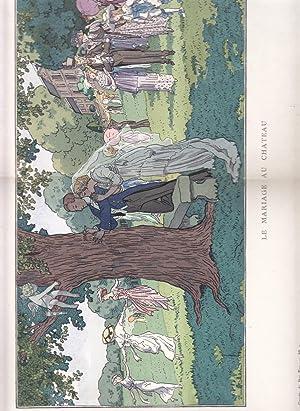 Le Mariage au Chateau. Illustration De La Gazette Du Bon Ton