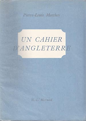 Un Cahier d'Angleterre