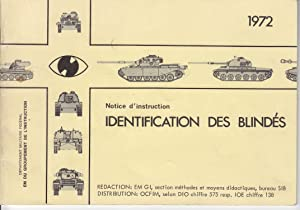 Notice d'instruction. Identification des blindés.
