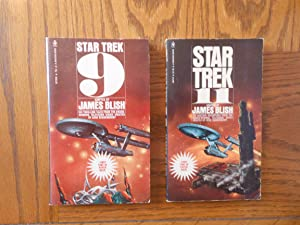 Star Trek Adaptation Stories Two (2) Paperback Books, including: Star Trek 9, and; Star Trek 11.
