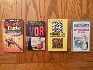 James Blish Four (4) Paperback Book Lot, including: VOR; The Warriors of Day; A Torrent of Faces,...