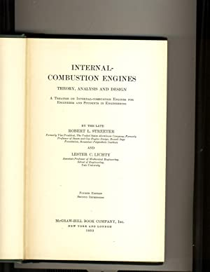 Internal Combustion Engines Theory, Analysis and Design: Robert L. Streeter