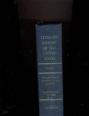 Literary History of the United States: Editors: Robert E.