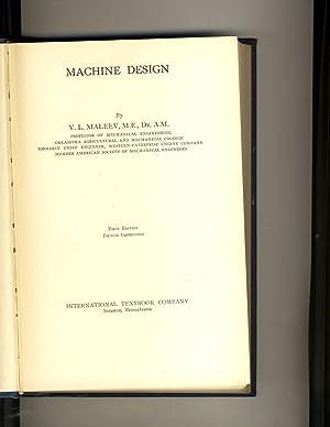 Machine Design: V.L. Maleev