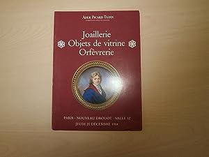 JOAILLERIE OBJETS DE VITRINE ORFEVRERIE PARIS NOUVEAU: ADER PICARD TAJAN