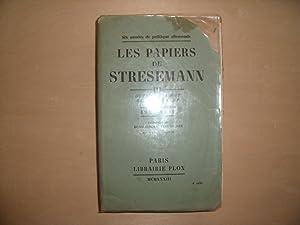 LES PAPIERS DE STRESEMANN TOME 3 DE: HENRI BLOCH ET