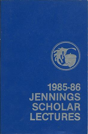 1985-86 Jennings Scholar Lectures: Martha Holden Jennings