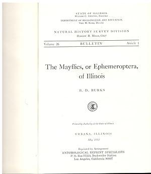 The Mayflies, or Ephemeroptera, of Illinois: B. D. Burks