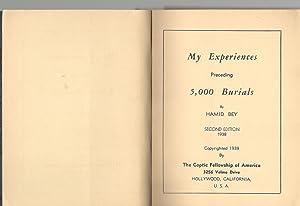My Experiences Preceding 5,000 Burials: Hamid Bey