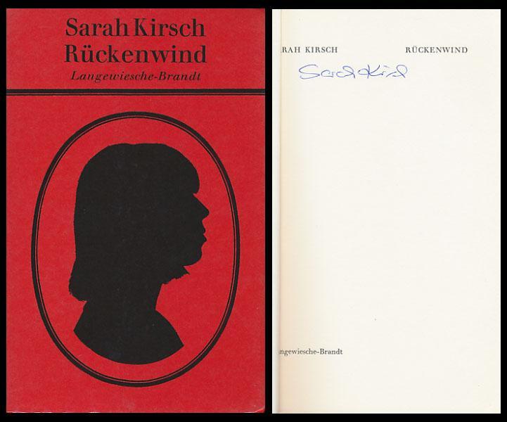 Rückenwind. [Signiertes Exemplar].: Kirsch, Sarah: