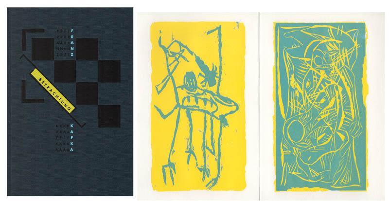 Betrachtungen. Mit dreizehn Originalholzrissen von Franz Hitzler.: Kafka, Franz –