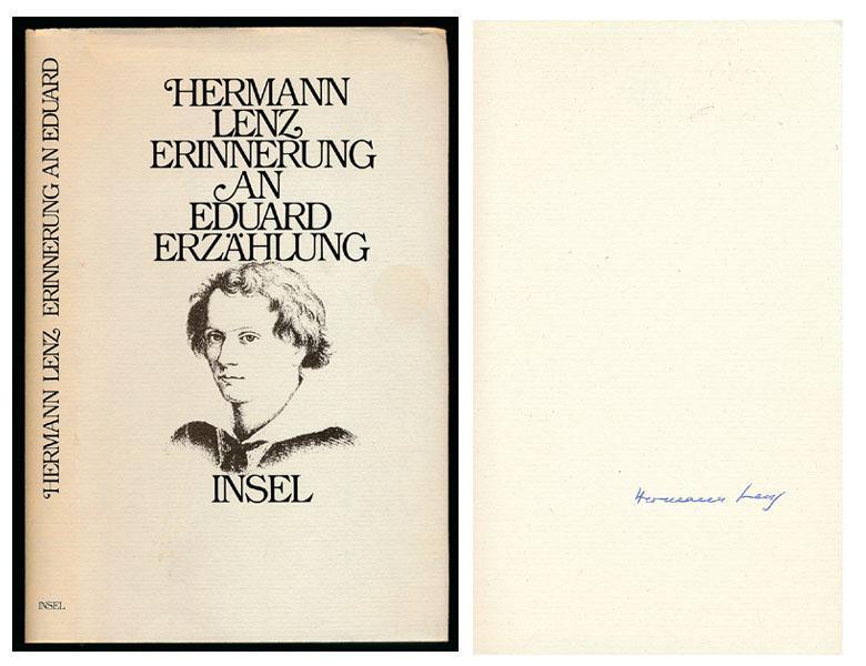 Erinnerung an Eduard. Erzählung. [Signierte Erstausgabe].: Lenz, Hermann: