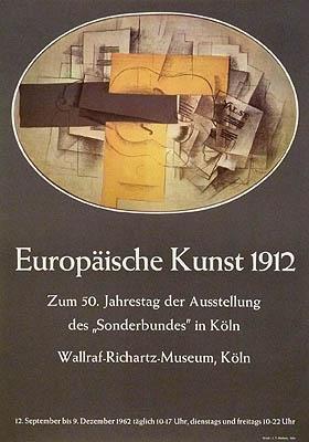 Plakat / poster: Europäische Kunst 1912. Zum