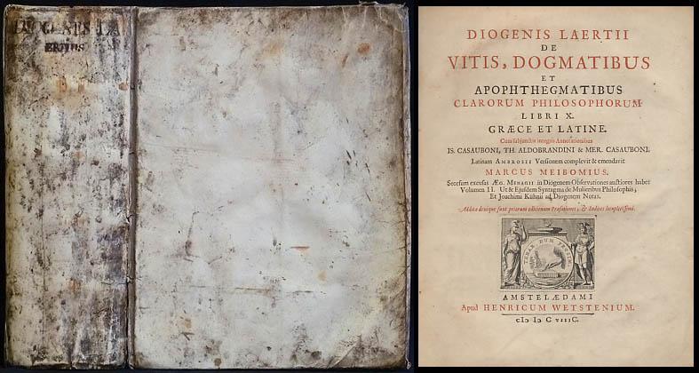 Diogenis Laertii De Vitis, Dogmatibus Et Apophthegmatibus: Diogenes Laertius; Meibomius,