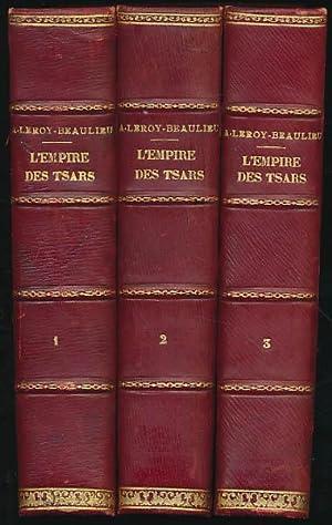 L'Empire des Tsars et les Russes. Tome: Leroy-Beaulieu, Anatole: