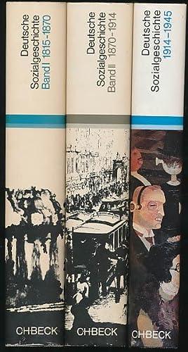 Deutsche Sozialgeschichte. Dokumente und Skizzen. 3 Bände: Pöls, Werner; Ritter,
