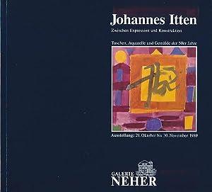 Johannes Itten. Zwischen Expression und Konstruktion. Tuschen,: Agthe, Marion: