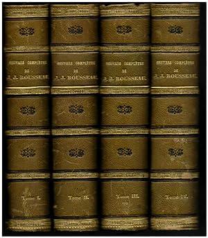 Oeuvres completes de J. J. Rousseau, avec: Rousseau, Jean-Jacques: