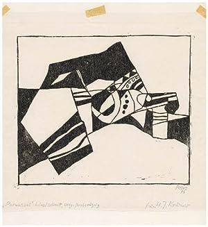 Parnassos. [19]76. [Signierter Original-Linolschnitt / signed original: Reins, Arno: