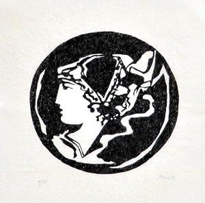 Antikes Portrait, Blick nach links. [19]83. [Signierter: Reins, Arno: