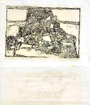 Cap Mimosa. [19]61. [Signierter Original-Linolschnitt / signed: Reins, Arno: