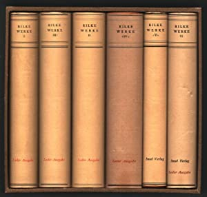 Sämtliche Werke. 6 Bände (= komplett). [Original-Ganzlederbände].: Rilke, Rainer Maria: