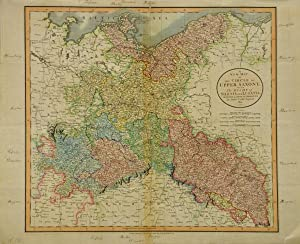 A New Map of The Circle of Upper Saxony, with The Duchy of Silesia and Lusatia. [1801]. [Kolorier...