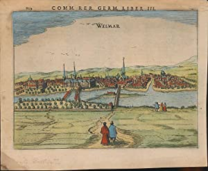Weimar. [1616]. [Kolorierter Original-Kupferstich / original colored copper engraving].