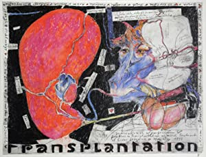 Horst Janssen. Transplantation. 1993. [Signiertes Plakat, Farboffset / signed poster, colored off...