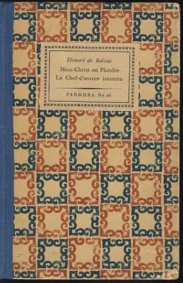 Jesus-Christ en Flandre. Le Chef-D'Oeuvre Inconnu.: Balzac, Honore de: