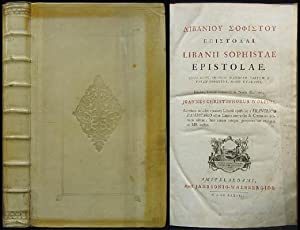 Libanii Sophistae Epistolae. Quas nunc primum maximam: Libanios (Libanius):