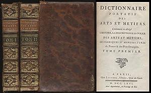 Dictionnaire Portatif des Arts et metiers. Contenant: Macquer, Philippe: