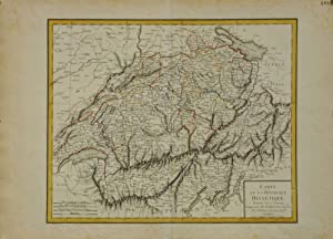 Carte de la Republique Helvetique. Divisee en 17 Cantons, comprenant celle du Vallais, et les Gri...