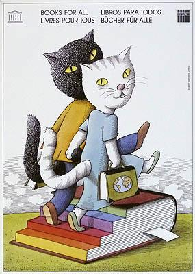 Plakat / poster: Unesco. Bücher für Alle.: Herfurth, Egbert:
