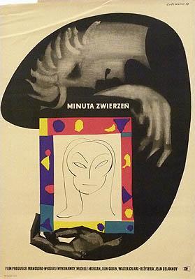 Kinoplakat / movie poster: Minuta Zwierzen. Film: Cieslewicz, Roman: