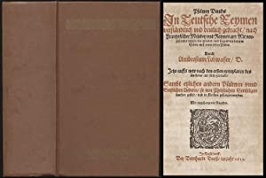 Das Düsseldorfer Gesangbuch von 1612]. Psalmen Davids. In Teutsche Reymen verständtlich ...