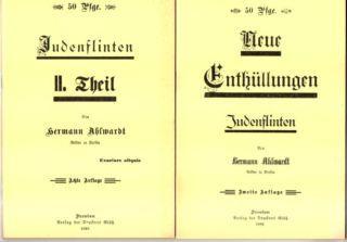 Neue Enthüllungen. Judenflinten. I. und II. Theil.: Ahlwardt, Hermann: