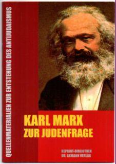 Karl Marx zur Judenfrage.: Marx, Karl: