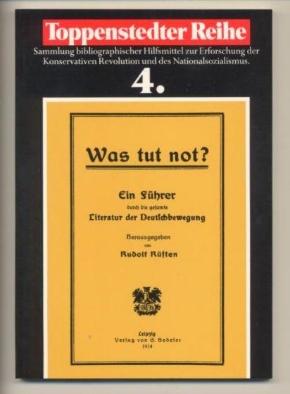 Was tut not? Ein Führer durch die: Rüsten, Rudolf (Herausgeber):